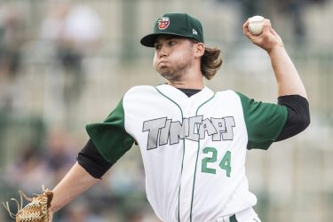 Padres prospect Aaron Leasher pitches for Fort Wayne TinCaps