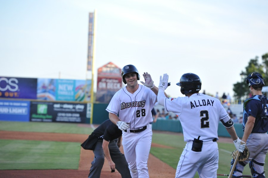 Padres prospect Michael Getys for San Antonio Missionst