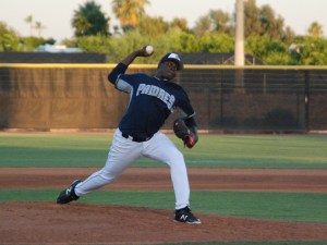 Padres prospect Moises Lugo in the AZL