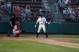 Owen Miller, San Diego Padres prospect bats for Tri-City Dust Devils