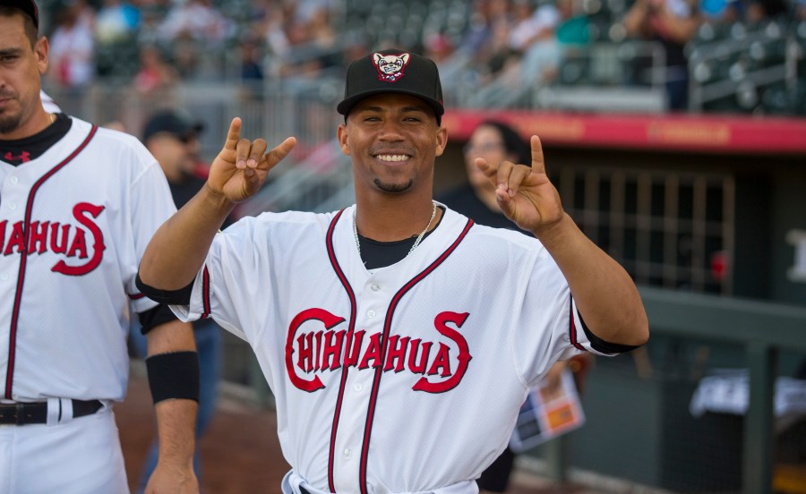 Padres prospect Francisco Mejia with El Paso Chihuahuas