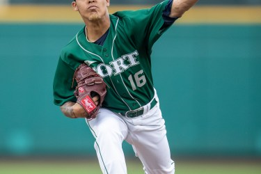 Padres prospect Osvaldo Hernandez pitches for Fort Wayne TinCaps