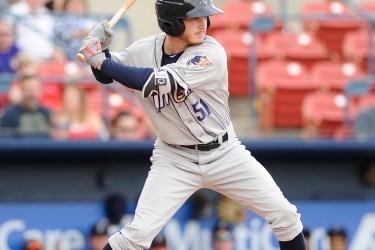 Padres prospect Grant Little bats for Tri-City Dust Devils