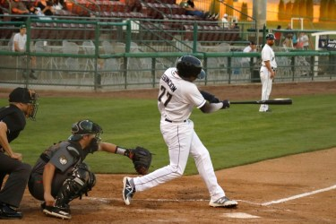 Padres prospect Luis Asuncion bats for Tri-City Dust Devils