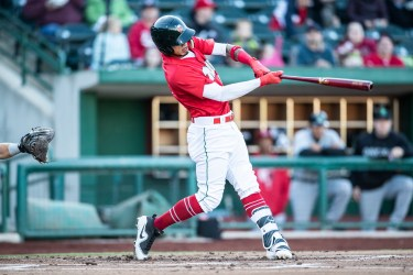 Gabriel Arias, Padres prospect, batting for Fort Wayne TinCaps