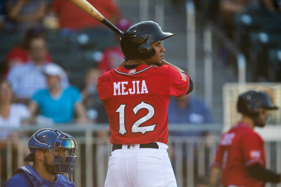 Francisco Mejia Padres prospect batting for El Paso Chihuahuas.
