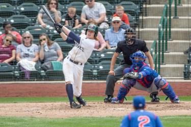 Padres prospect Jack Suwinski bats for Fort Wayne TinCaps