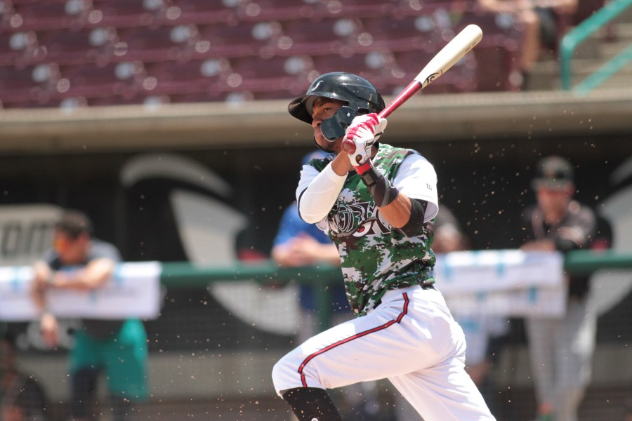 San Diego Padres OF prospect Edward Olivares bats for Lake Elsinore Storm