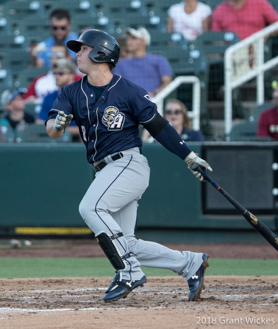 Padres prospect Ty France bats for San Antonio Missions