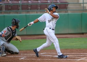 Xavier Edwards, San Diego Padres prospect bats for Tri-City Dust Devils