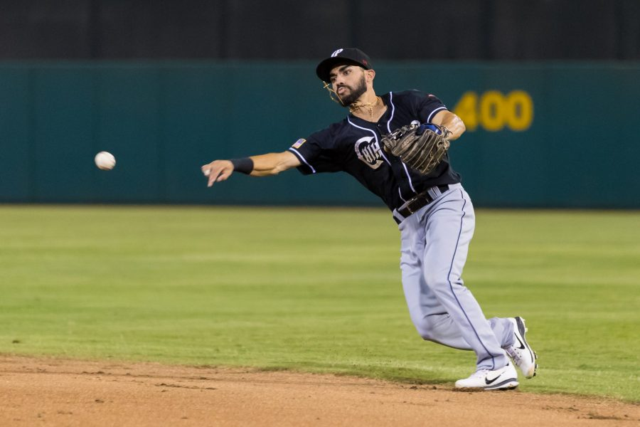 Carlos Asuaje, Padres prospect fields for El Paso Chihuahuas