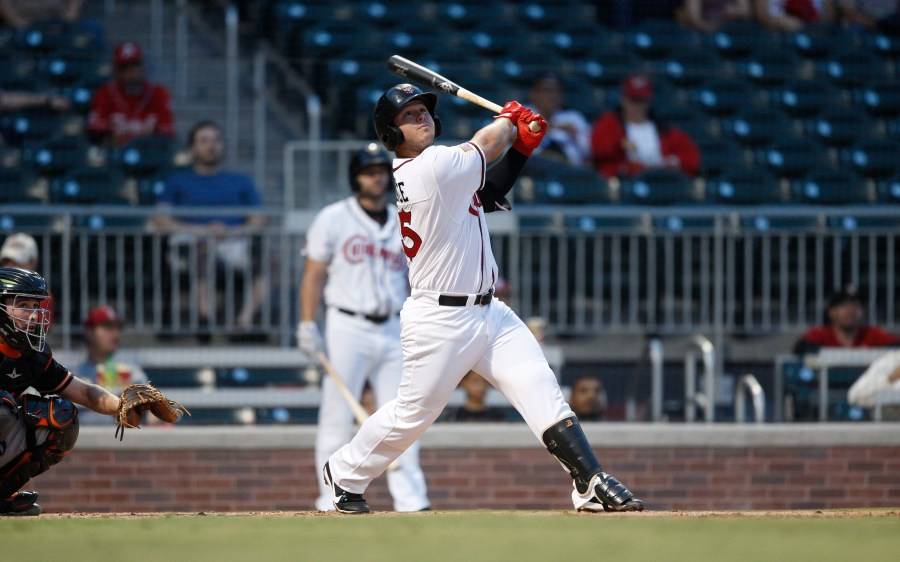 Ty France, Padres prospect batting for El Paso Chihuahuas