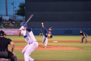 Emmanuel Ramirez, Padres prospect pitching for San Antonio Missions in the playoffs.