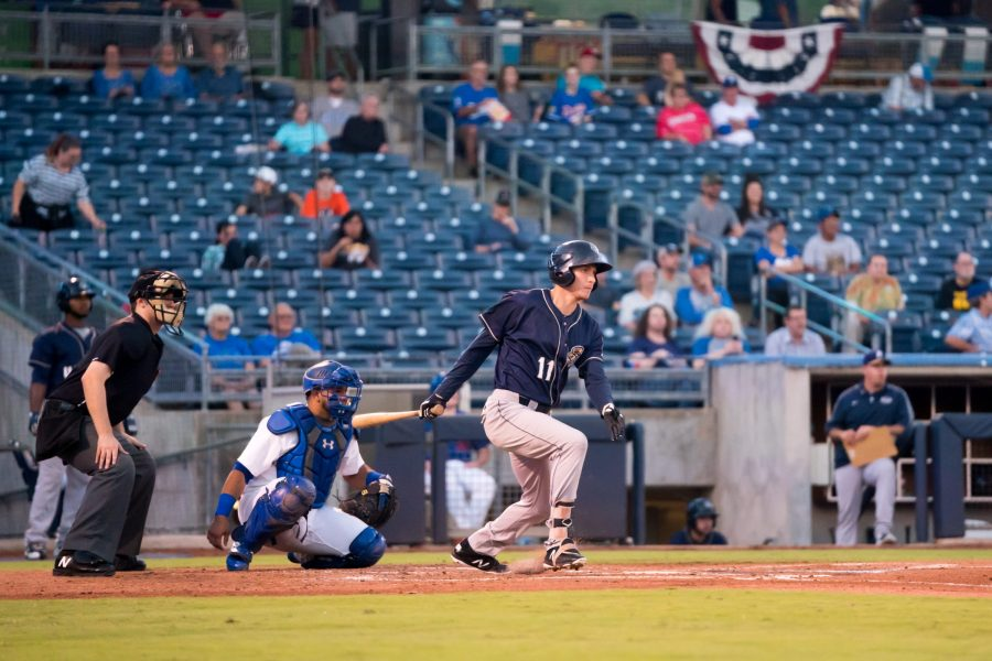 Taylor Kohlwey, San Diego Padres prospect batting for San Antonio Missions in playoffs