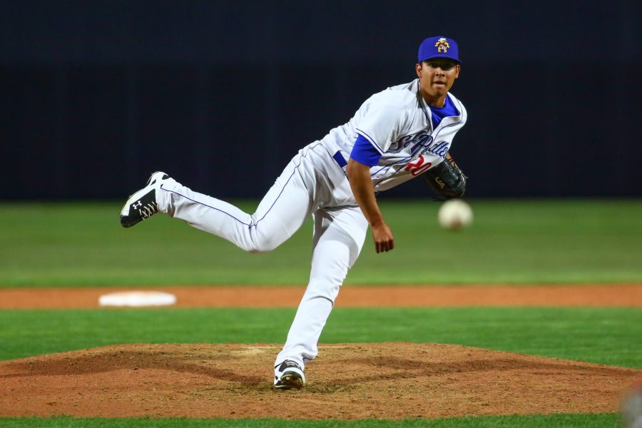 Andres Muñoz delivers a pitch for Amarillo Sod Poodles