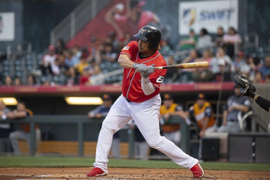 Padres prospect Josh Naylor bats for El Paso