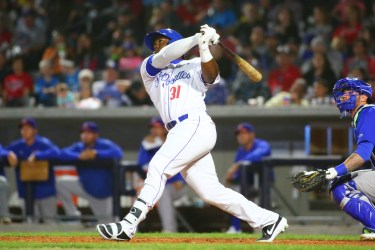 Padres prospect Jorge Oña batting for Amarillo