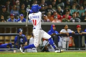 Padres prospect Edward Olivares hitting for Amarillo Sod Poodles
