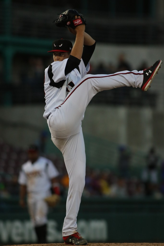 MacKenzie Gore pitches for Lake Elsinore Storm