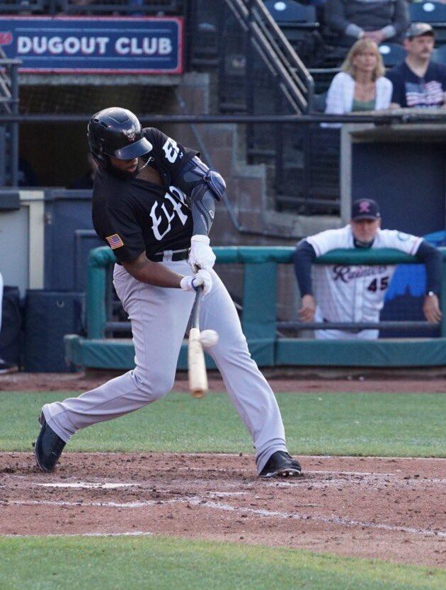 Aderlin Rodriguez bats for El Paso Chihuahuas