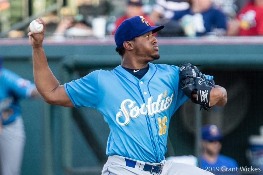 Padres Prospect Ronald Bolanos pitches for Amarillo Sod Poodles