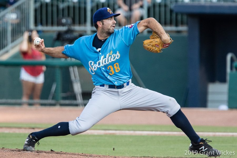 Jesse Scholtes, Padres prospect pitching for Amarillo Sod Poodles