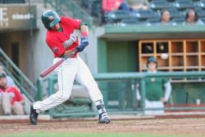 Padres prospect Jawuan Harris batting for Fort Wayne TincCaps