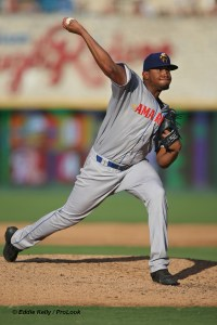 Ronald Bolaños Padres prospect pitches for Amarillo Sod Poodles