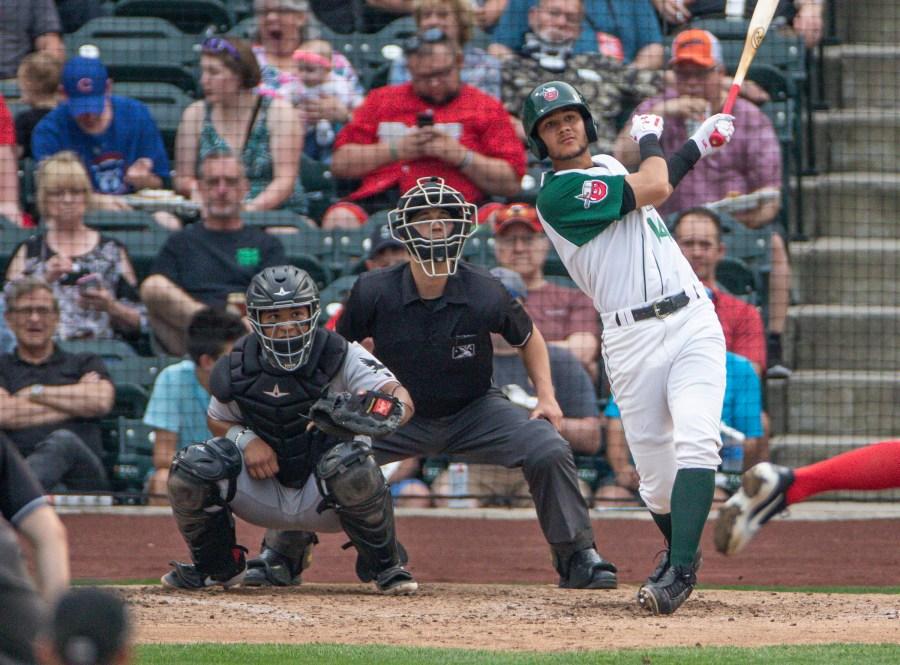 Justin Lopez Padres prospect batting for Fort Wayne Tincaps