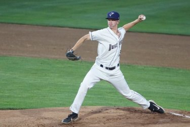 Ethan Elliott, San Diego Padres prospect pitching for Tri-City Dust Devils