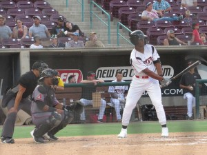 Padres prospect Joshua Mears bats for the Lake Elsinore Storm