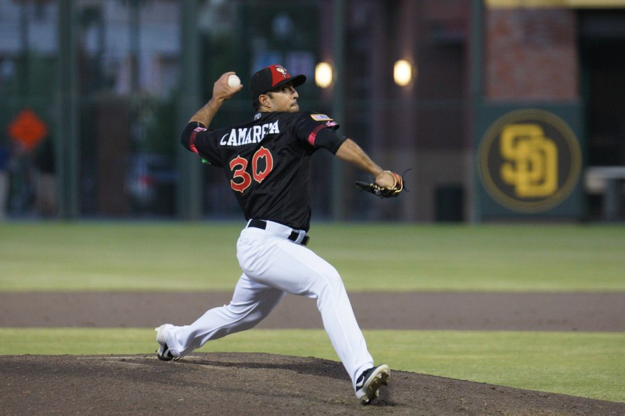 San Diego Padres prospect Daniel Camarena pitches for El Paso Chihuahuas
