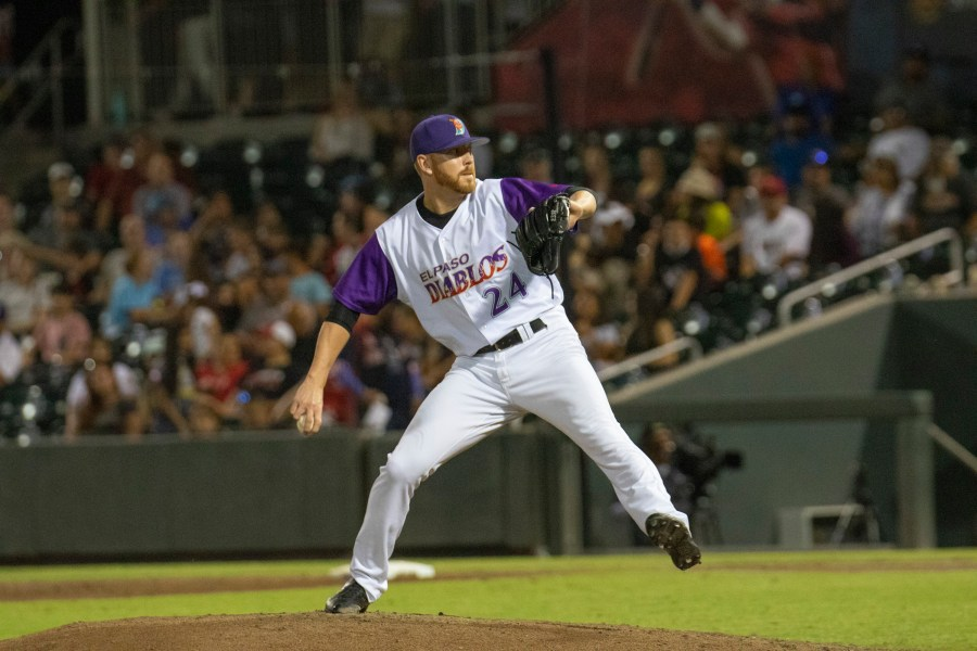 Padres prospect Steven Wilson pitching for El Paso Chihuahuas