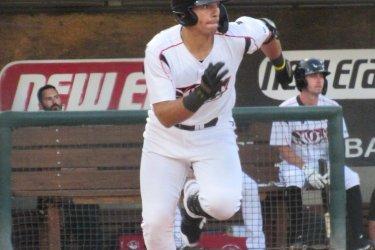 Padres prospect Brandon Valenzuela playing for the Lake Elsinore Storm
