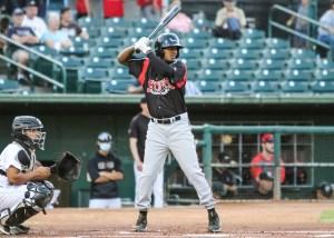 Padres prospect Angel Solarte bats for Lake Elsinore Storm