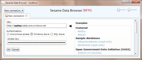 Sesame Windows Azure  authentication