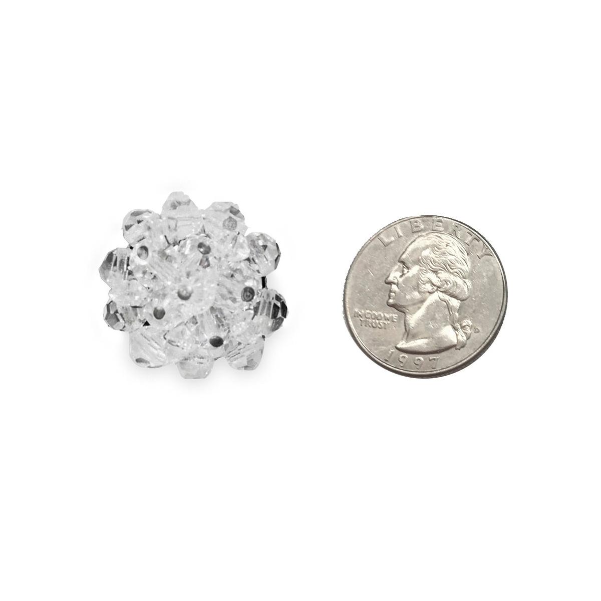 1950s crystal bead earrings