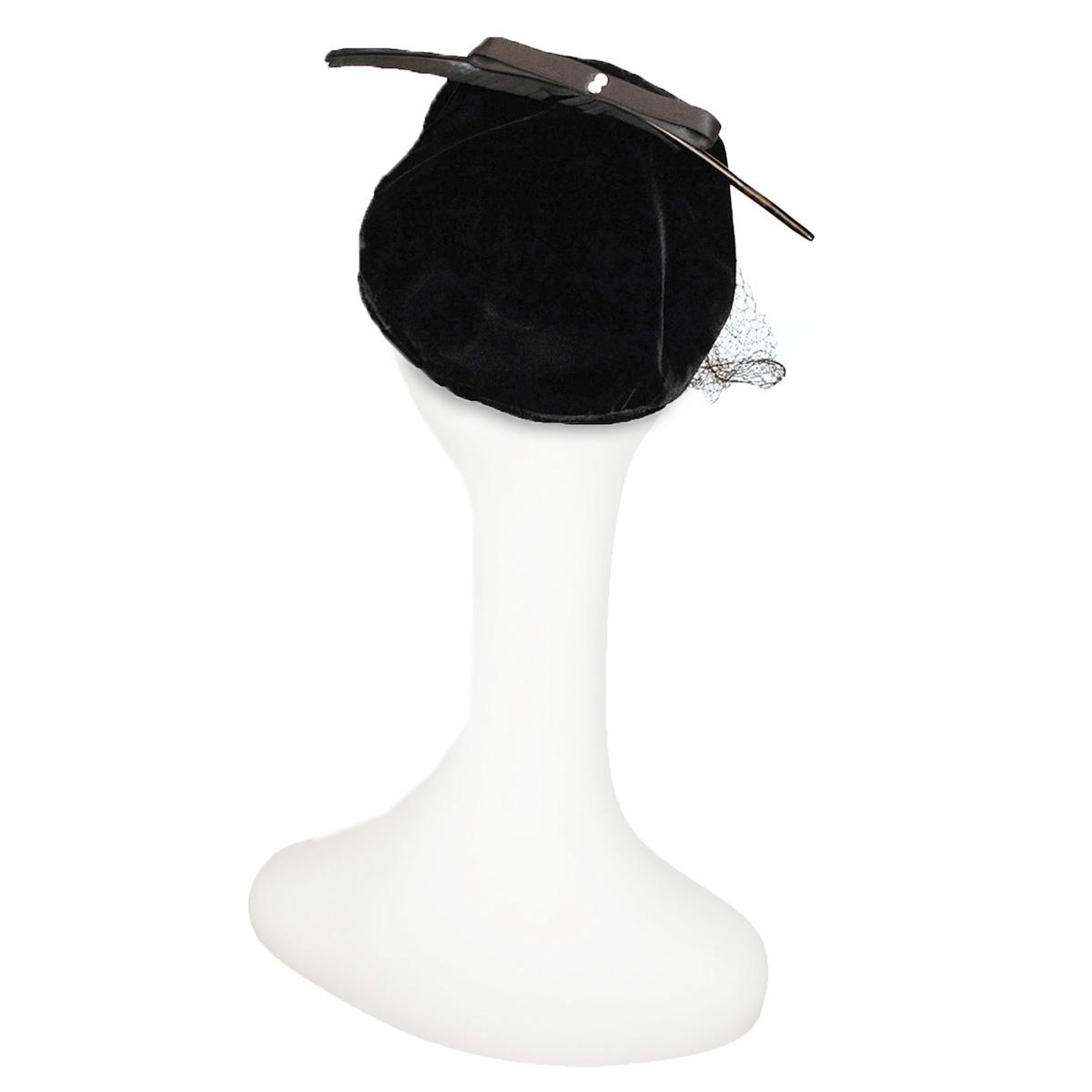 50s black close hat
