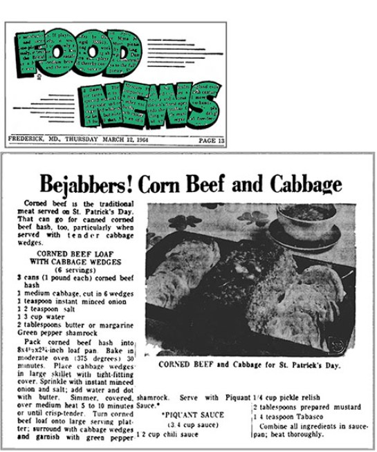 Corn Beef, Vintage Ads & Happy St. Patricks