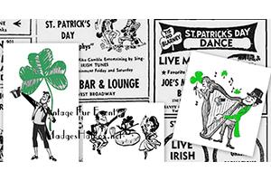 st. Patricks day vintage ads
