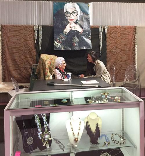 Iris Apfel Norma Kamali vintage intermezzo
