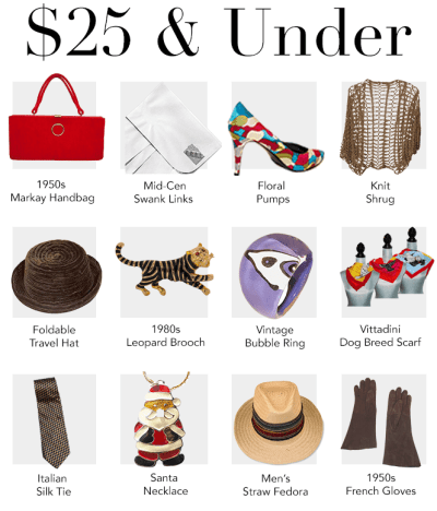 Holiday shopping under $25