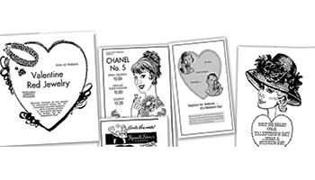 Valentines Day vintage ads
