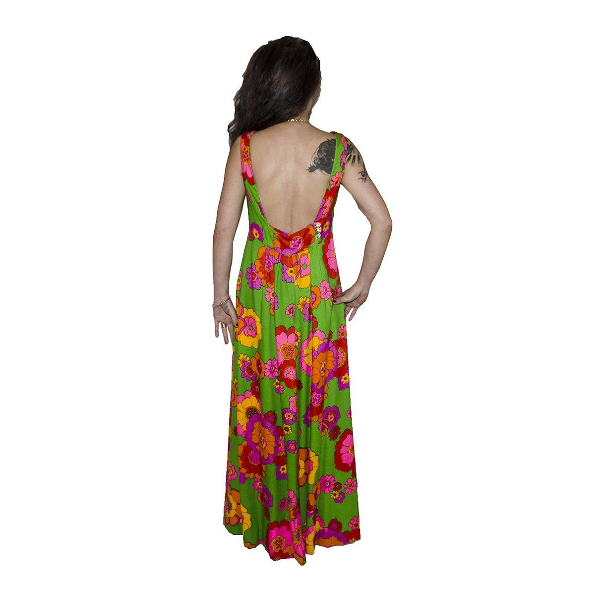70s Floral Maxi Dress