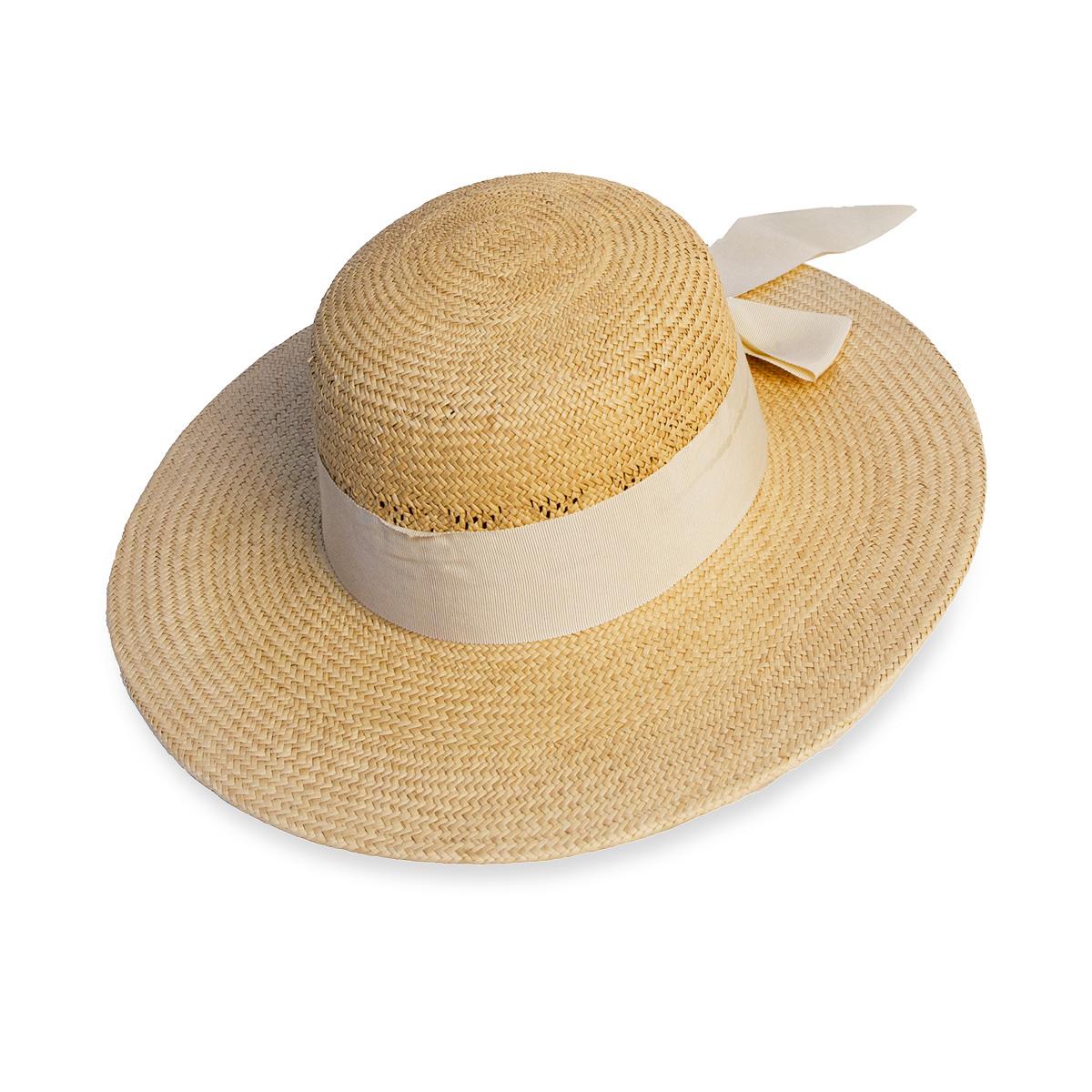 vintage 60s wide brim sun hat