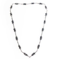 1960s Robert Larin Pewter Necklace, Brutalist Style
