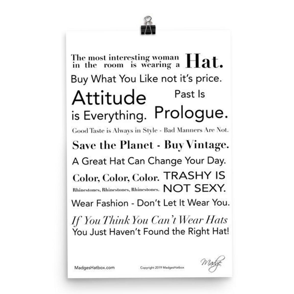 MadgesHatbox vintage poster