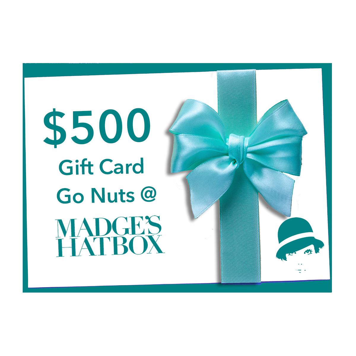 $500 MadgesHatbox Gift Card