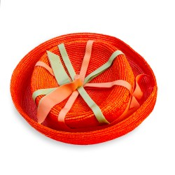 vintage orange breton hat