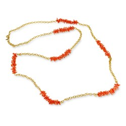 Kenneth Jay Lane Necklace coral